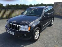 2006 06 JEEP GRAND CHEROKEE 3.0 CRD LIMITED *DIESEL* AUTOMATIC 4WD, 5 DOOR HATCHABCK - JULY 2017 MOT