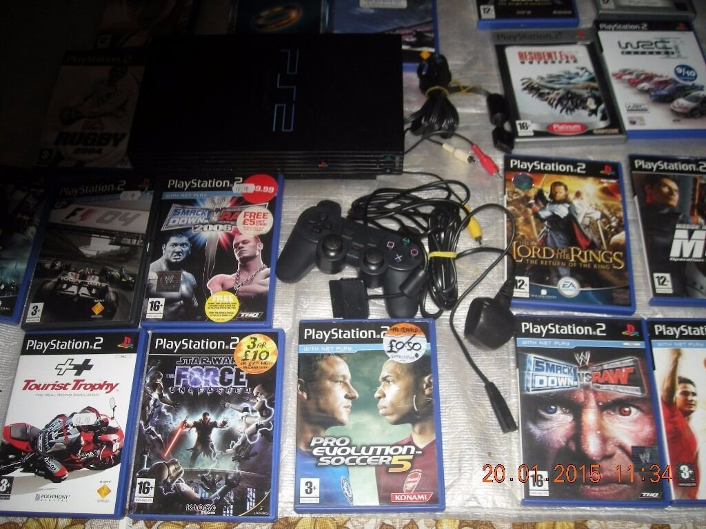 20 PLAY STATION 2 GAMES PLUS 2 PLAY STATION I IN VGC