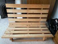 IKEA pine futon double