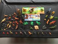 Bundle of dinosaurs and 5 dinosaur books