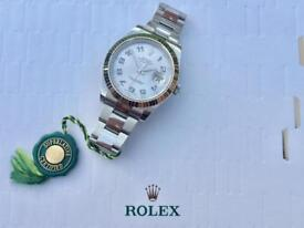 Rolex Datejust 2 41mm 3 months old Box & Papers Rhodium Arabic Numeral Dial White Gold Fluted Bezel
