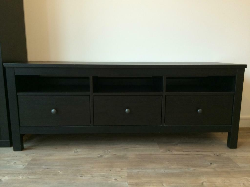 Hemnes Tv Stand Gray Brown : Hemnes tv Unit Blackbrown Black Brown tv Stand Ikea