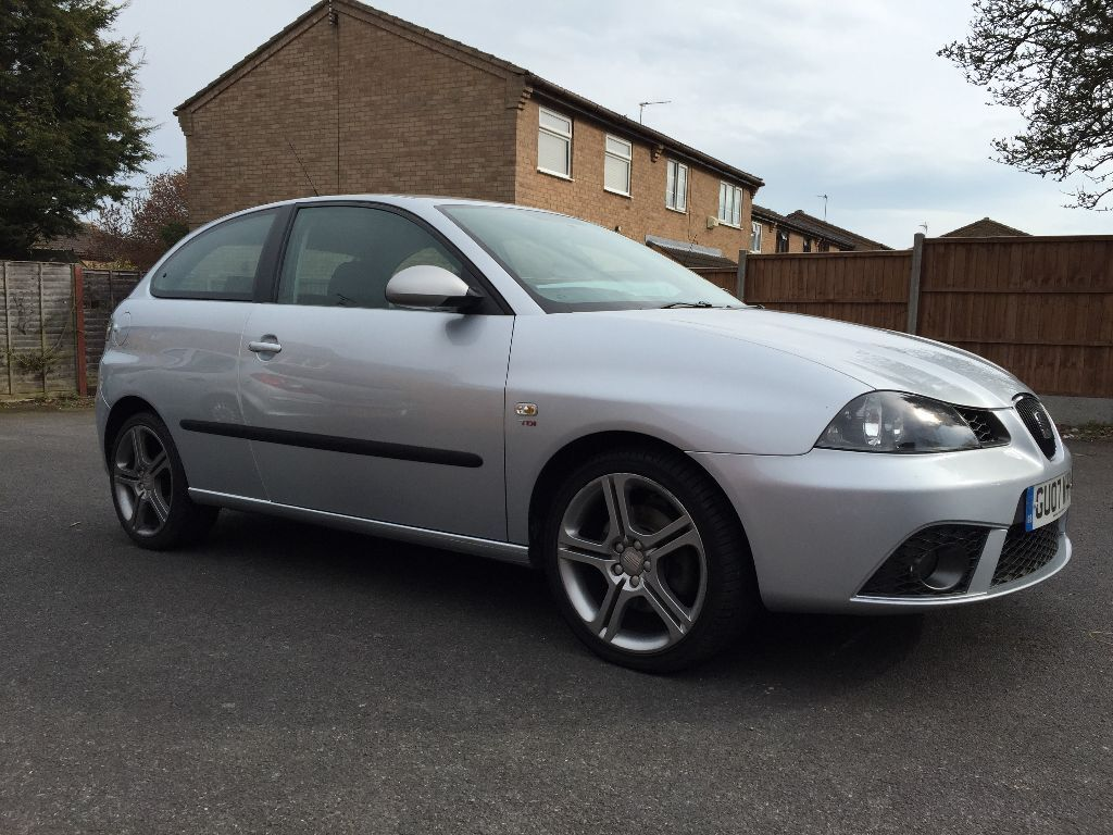 2007 silver seat ibiza 1 9tdi fr 130bhp 3dr 78560 miles. Black Bedroom Furniture Sets. Home Design Ideas