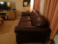 Two Pure Leather Sofas for sale, t