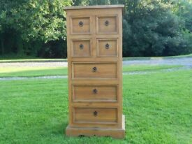 Tall Chest of Pine Drawers