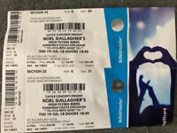 2 x Noel Gallagher Tickets Edinburgh Castle