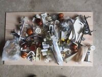Assorted lot of Handles, brackets, picture hooks and other DIY bits