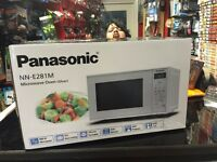 Panasonic SIlver Digital 20 Litre 800W Microwave Oven Model NN-E281M New Boxed