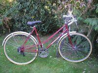 heidemann ladies dutch vintage racing bike,new tyres,runs perfectly