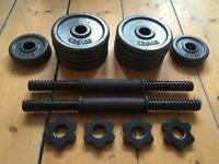 2x Adjustable Dumbbells / Free Weights / Hand Weights