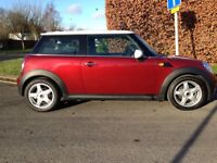 2008 Reg Mini Cooper Hatchback, 1.6L AUTOMATIC, RED, LOW MILEAGE, HIGH SPEC, LUCKY CAR