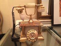 Antique, marble telephone