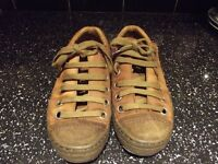 Size 43 Mens Brown All Leather London Casuals - fronts suede - comfortable and so now.