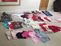 Huge bundle of girls' autumn/winter clothes (age 8) (Cyrillus, Sergent Major, Next etc)