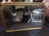 Lovely Vintage Gilt Framed Decorative Over-mantle Wall Mirror