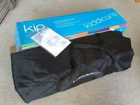 Kiddicare Kip lightweight travel cot. Suitable from birth to 4 years. Boxed with instructions
