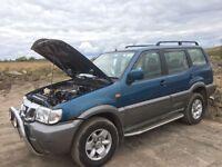 Nissan Terano 2.7 diesel spare parts available 7 seater bumper bonnet wing light bonnet wheels