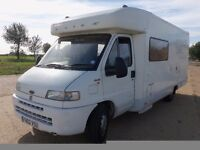 LAIKA 4 BERTH MOTORHOME 2002 FIXED REAR BED 2.8 TURBO DIESEL