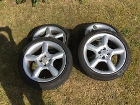 "Mini 17"" alloy wheels with good tyres"