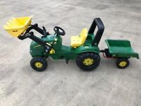 Rolly tractor and trailer