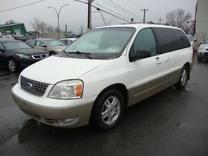 2005 Ford Freestar SEL CUIR-7PASS-DVD WHITE-BEIGE