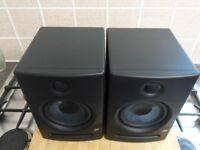 PreSonus Eris 5 Active Monitors Boxed With Stands