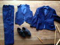 Boys full suit& brogues