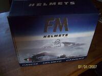 FM CRASH HELMET BRAND NEW