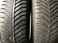 Pair of Goodyear all season tyres