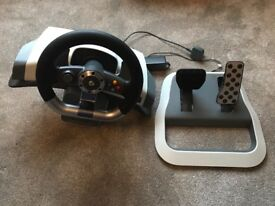 Xbox 360 official force feedback wheel and pedal set
