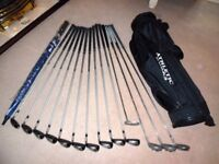 Full Set of Slazenger Big Ezee Iron Woods Clubs and carry bag