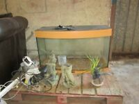 lovely large fish tank with all accessories ...