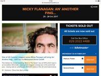 Micky Flanagan Cardiff Motorpoint x2 Tickets Block 3 26th October £250