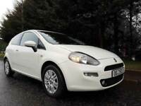 FEBRUARY 2014 FIAT PUNTO EASY 1.2 PETROL WHITE 3DOOR ( LOW MILEAGE ) UNMARKED 1YEARS MOT MARCH 2019