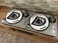 Technics SL 1200 MK2 Turntables Pair (New Cables & Pitches)
