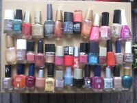 40 Bottles of Various Brands and Colours of Nail Varnish: All 40 for £10.00