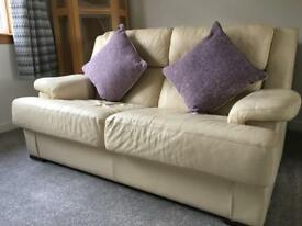 Two Italian leather sofas - priced for quick sale