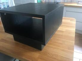Small tv stand side table black