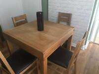 next dining table & 4 chairs
