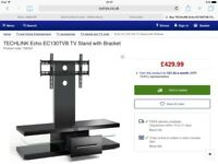 Black, beautiful tv stand up to 60' television