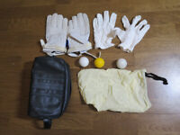 Eton Fives Kit - Bag, Gloves, Fives Balls - Very Good condition
