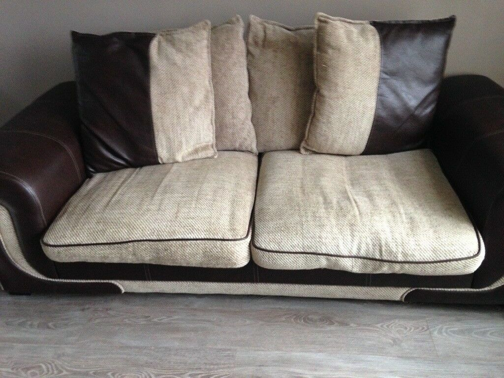 Lovely Comfortable Sofas Small Tear On Arm Of One Sofa Otherwise Good Condition