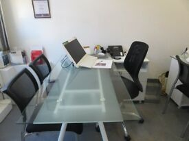 Glass Top Augusta Desks £85.00 each and a chair for free