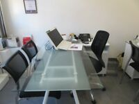 Glass Top Augusta Desks - £85.00 and a chair for free