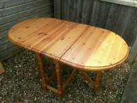 Solid Pine Folding Table. VGC