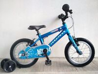 "(3062) 14"" Lightweight Aluminium RIDGEBACK MX14 Kids Bike Bicycle + STABILISERS Age: 3-5, 95-110cm"