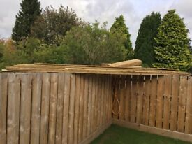 Good quality fencing timber