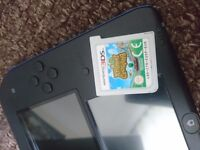 Blue/Black 2DS with 2 games