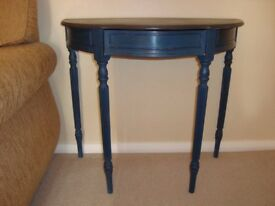 Shabby Chic console half moon table painted in Annie Sloan