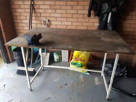 Old garage workbench/table
